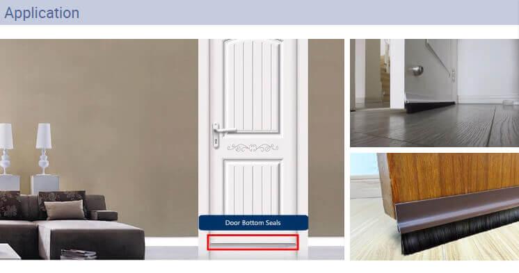 PVC Door Bottom Seal Application from Daoseal