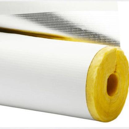 Fiberglass Pipe Insulation with jacket ISL-010