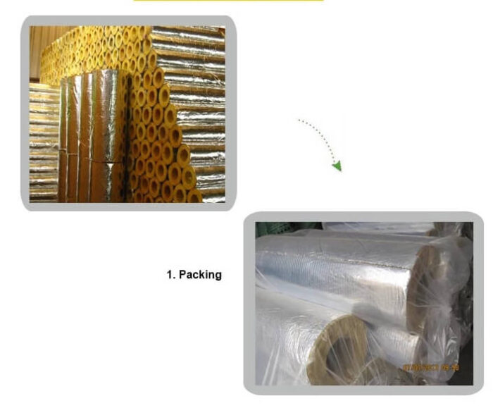 Fiberglass Pipe Insulation with jacket ISL-010A