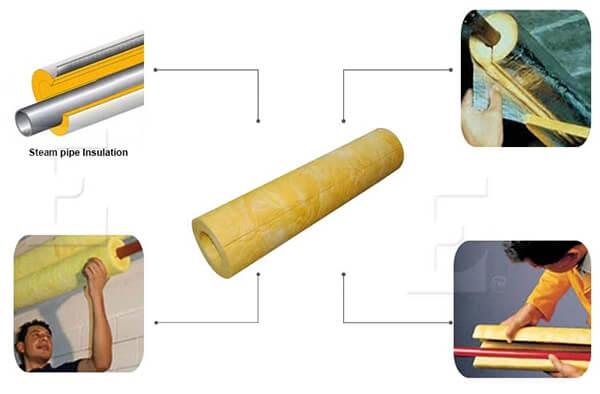Fiberglass Pipe Insulation with jacket ISL-010B