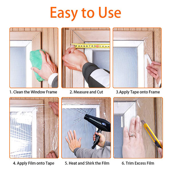 how to use window insulation kit