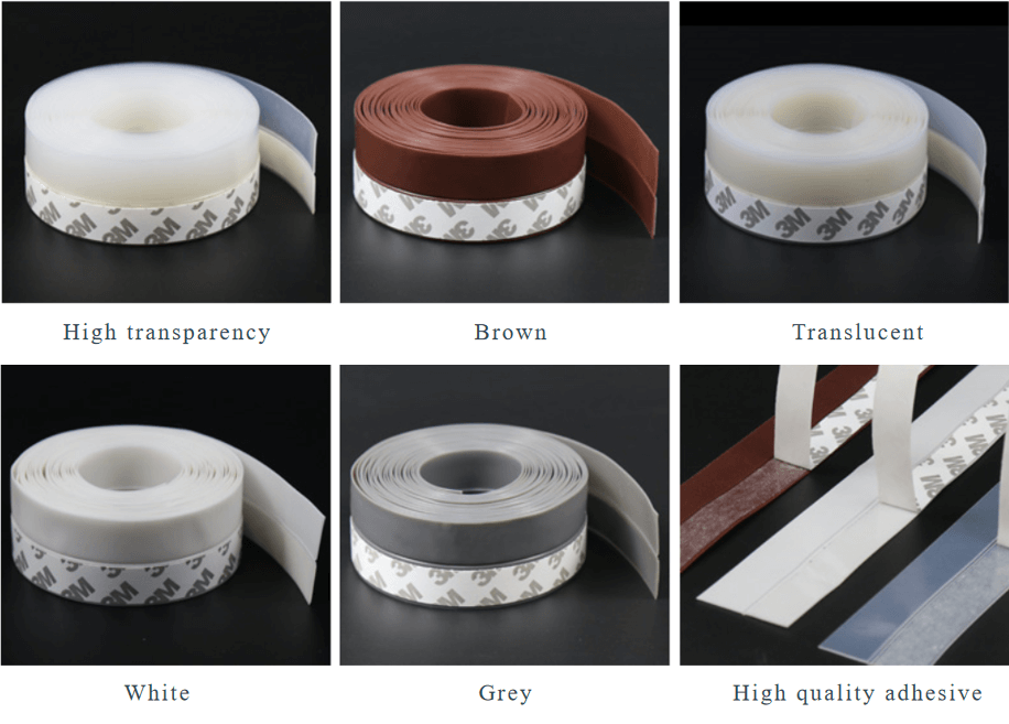 Adhesive Silicone Door Bottom Seals PDBB-017C