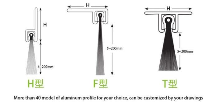 Aluminum Door Strip Brush ADBB-008b