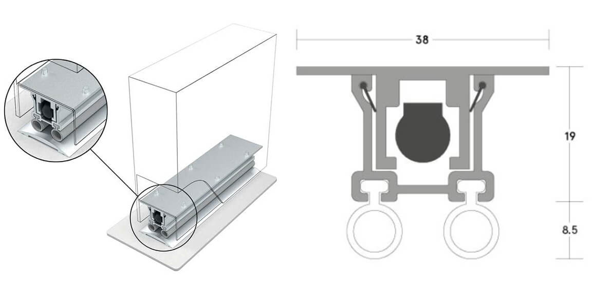 Automatic door bottom ADB-012(e)