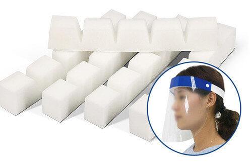 Face shield sponge PU foam strip